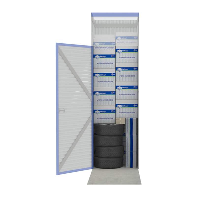 Opslagruimte berekenen eurobox self storage for M2 trap berekenen